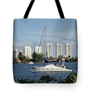 Anchored On Maule Lake Tote Bag