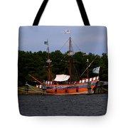 Anchored Ship Tote Bag