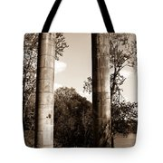 Ancient Columns By The River Tote Bag