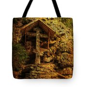 Ancient Cross. Holy Island  Tote Bag