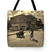And The Bicycle Wins Tote Bag