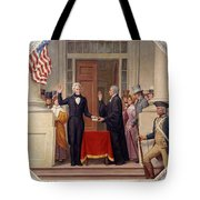 Andrew Jackson At The First Capitol Inauguration - C 1829 Tote Bag