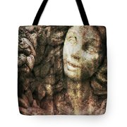 Angel Cast In Stone Tote Bag