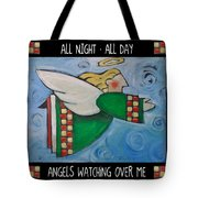Angel Flight Poster Tote Bag