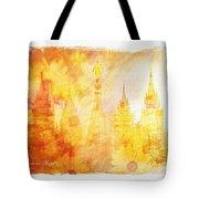 Angel Golden Tote Bag by La Rae  Roberts