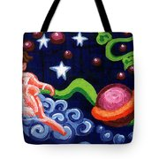 Angel Spinning Saturn Tote Bag by Genevieve Esson