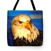 Angel The Bald Eagle Tote Bag