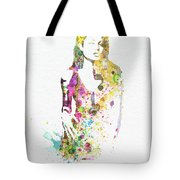 Angelina Jolie 2 Tote Bag by Naxart Studio