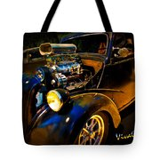 Anglia Dragster And A Duce Staged For A Grudge Run  Tote Bag
