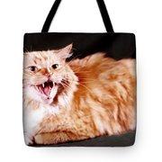 Angry Orange Tabby Tote Bag