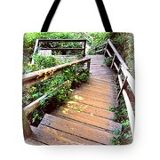 Angular Wooden Stairs Tote Bag