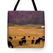 Angus And Oaks  Farm Tote Bag