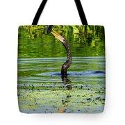 Anhinga Stabs A Fish Tote Bag