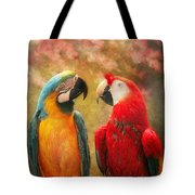 Animal - Parrot - We'll Always Have Parrots Tote Bag