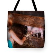 Animal - Pig - Feeding Piglets  Tote Bag