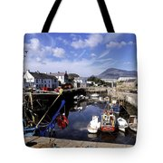 Annalong Harbour, Near Mountains Of Tote Bag