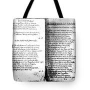 Anne Bradstreet Poems Tote Bag