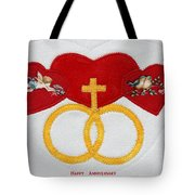 Anniversary Hearts Tote Bag