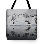 Antarctic Mountains Reflected Tote Bag
