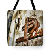 Antique - Door Rail - Rusty Tote Bag
