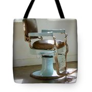 Antique Barber Chair Tote Bag