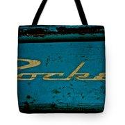 Antique Blue Wagon Tote Bag