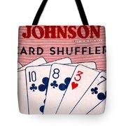 Antique Card Shuffler Tote Bag