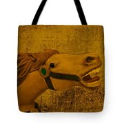 Antique Carousel Appaloosa Horse Tote Bag