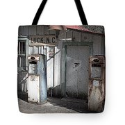 Antique Gas Pumps Tote Bag