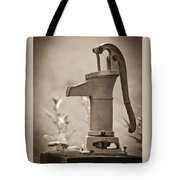 Antique Hand Water Pump Tote Bag