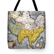Antique Map Of Asia Tote Bag