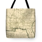 Antique Map Of Louisiana And Florida Tote Bag by Guillaume Raynal