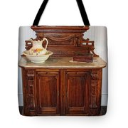 Antique Side Boy Tote Bag