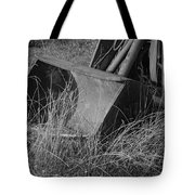 Antique Tractor Bucket In Black And White Tote Bag