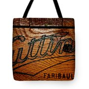 Antique Wooden Cart Tote Bag