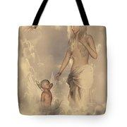 Aphrodite And Eros Tote Bag by Lourry Legarde