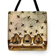 Apiculture-beekeeping-14th Century Tote Bag by Science Source