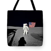 Apollo 14 Astronaut Stands Tote Bag