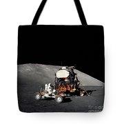 Apollo 17 Astronaut Makes A Short Tote Bag