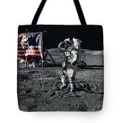 Apollo 17 Astronaut Salutes The United Tote Bag