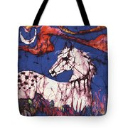 Appaloosa In Flower Field Tote Bag