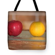 Apple And Orange Tote Bag