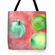 Apple And Two Lemons Tote Bag
