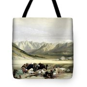 Approach To Mount Sinai Wady Barah Feby 17th 1839 Tote Bag