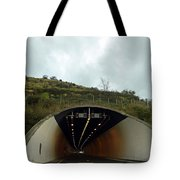 Approaching A Tunnel On A Highway In England Tote Bag