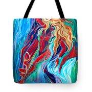 Aqua Rain Tote Bag