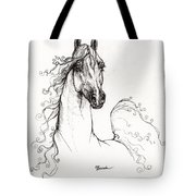 Arabian Horse Drawing 41 Tote Bag