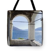 Arch And Lake Tote Bag