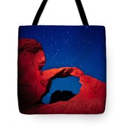 Arch In Red And Blue Tote Bag