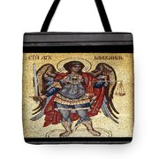 Archangel Michael Mosaic Tote Bag